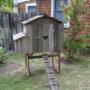 Bungalow Hen House Front Profile – Closed Door