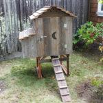 Cottage Hen House Closed Door