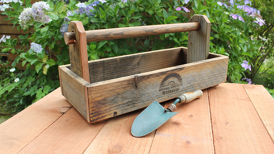 Rustic Garden Caddy