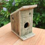 birdhouse, birds, rustic, redwood