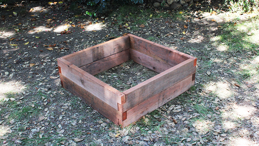 rectangle raised bed garden kit