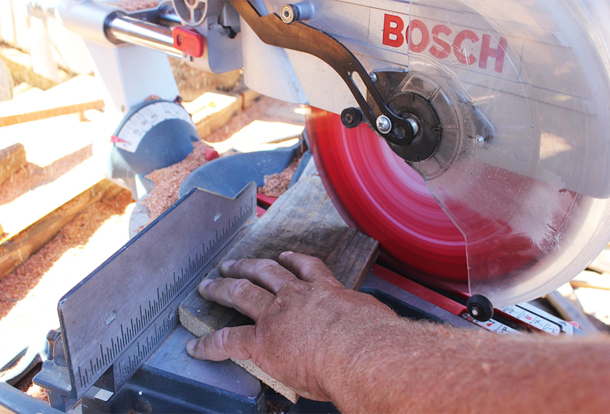Our Bosch Saw in Action