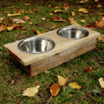Dog Bowl with Leaves